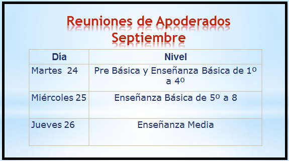 reuniones septiembre